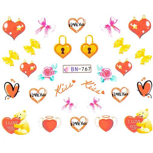 Poze Tatuaj unghii Love BN-767, LUXORISE