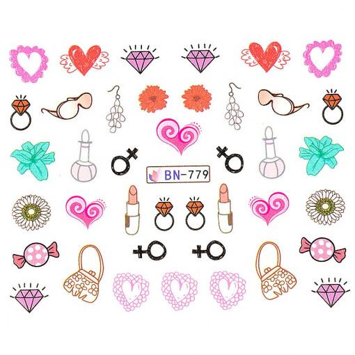 Poze Tatuaj unghii Love BN-779, LUXORISE
