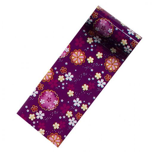 Poze Folie Transfer Unghii LUXORISE Purple Childhood #279