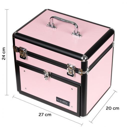 Poze Geanta Produse Cosmetice din Aluminiu, Pink Euphoria - LUXORISE