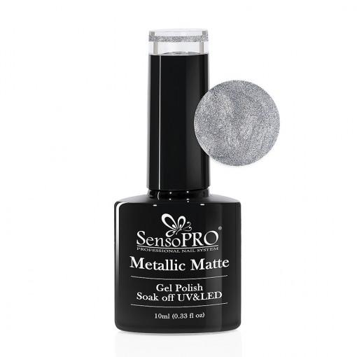 Poze Oja Semipermanenta Metallic Matte SensoPRO #010 Slate Gray, 10ml