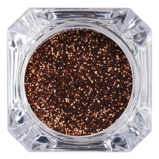 Poze Sclipici Glitter Unghii Pulbere Dark Honey #61, LUXORISE