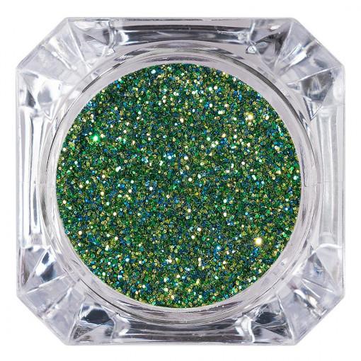 Poze Sclipici Glitter Unghii Pulbere Forest Green #08, LUXORISE