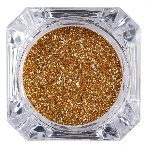 Poze Sclipici Glitter Unghii Pulbere Gold #35, LUXORISE