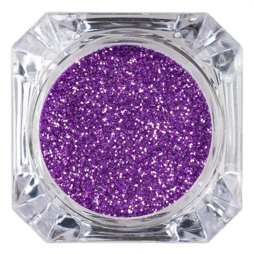 Poze Sclipici Glitter Unghii Pulbere Lila #45, LUXORISE