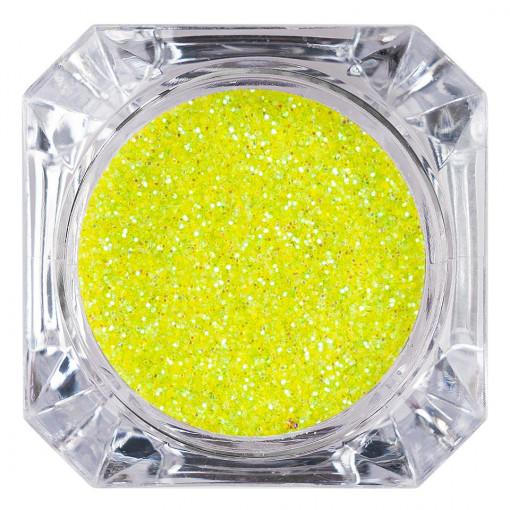 Poze Sclipici Glitter Unghii Pulbere Neon Green #40, LUXORISE