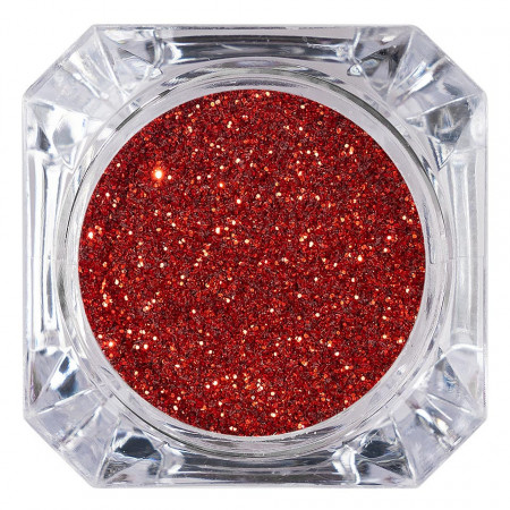 Poze Sclipici Glitter Unghii Pulbere Rosu Intens #31, LUXORISE