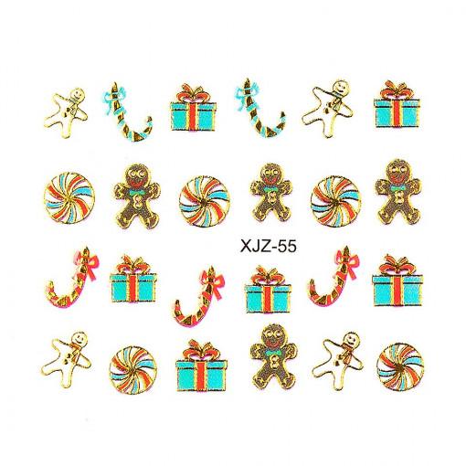 Poze Sticker 3D Unghii Adventure XJZ-55 Christmas Collection, LUXORISE