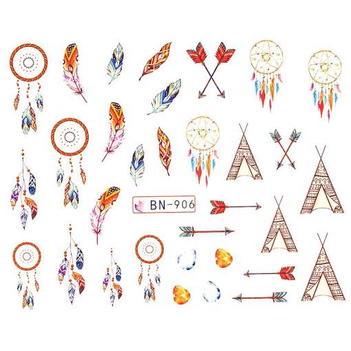 Poze Tatuaj Unghii Dream Catcher BN-906, LUXORISE