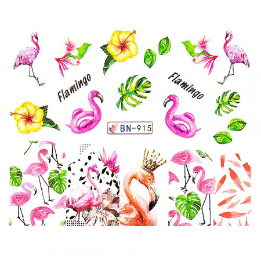 Poze Tatuaj unghii Flamingo BN-915, LUXORISE