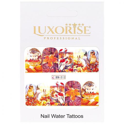 Poze Tatuaj unghii GoldenFall BN-512, LUXORISE