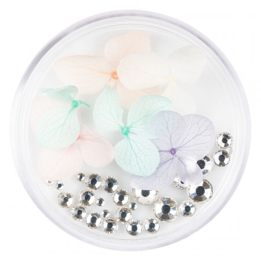 Poze Flori Uscate Unghii cu cristale - Floral Fairytale #11 LUXORISE