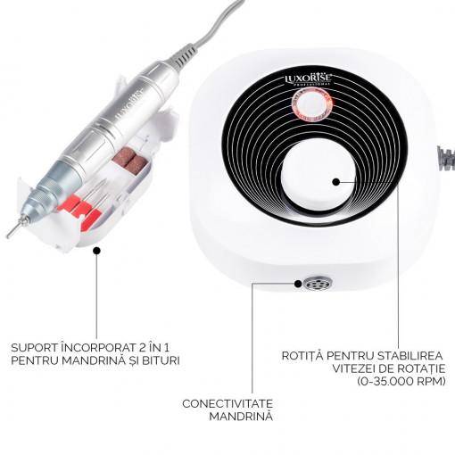 Poze Freza Unghii Profesionala iSmart Power PRO - LUXORISE, 35.000 RPM