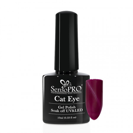 Poze Oja Semipermanenta SensoPRO Cat Eye Regal Purple #036, 10ml