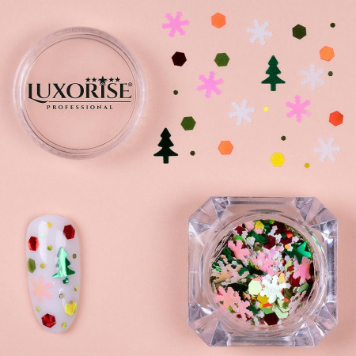 Poze Paiete Unghii LUXORISE #02 Christmas Joy