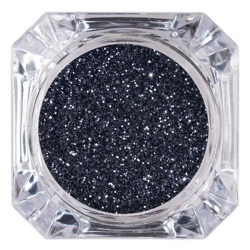 Poze Sclipici Glitter Unghii Pulbere Dark Grey #05, LUXORISE