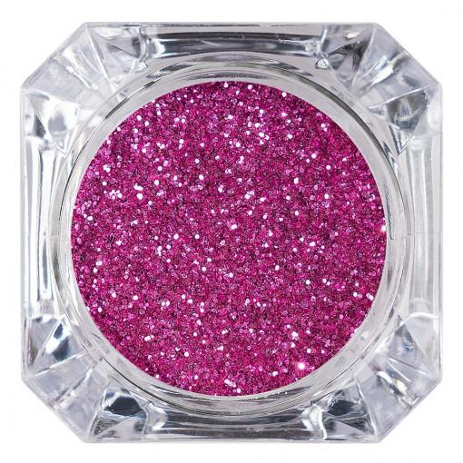 Poze Sclipici Glitter Unghii Pulbere Roz Intens #26, LUXORISE