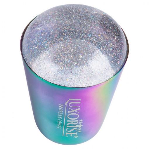 Poze Stampila Unghii Silicon cu Racleta Starlight Dust, LUXORISE