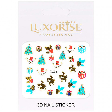 Poze Sticker 3D Unghii Adventure XJZ-61 Christmas Collection, LUXORISE