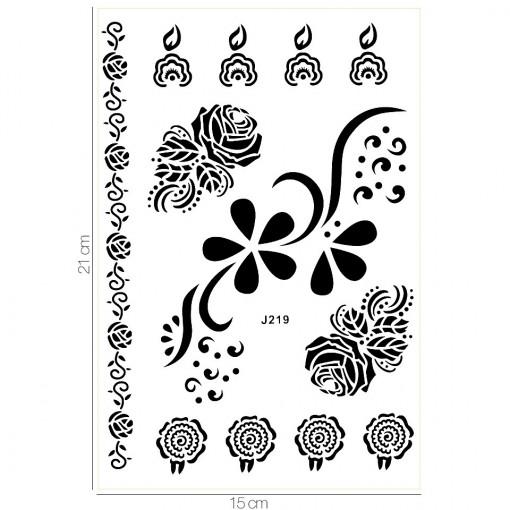 Poze Tatuaj Temporar LUXORISE Henna Roses J219