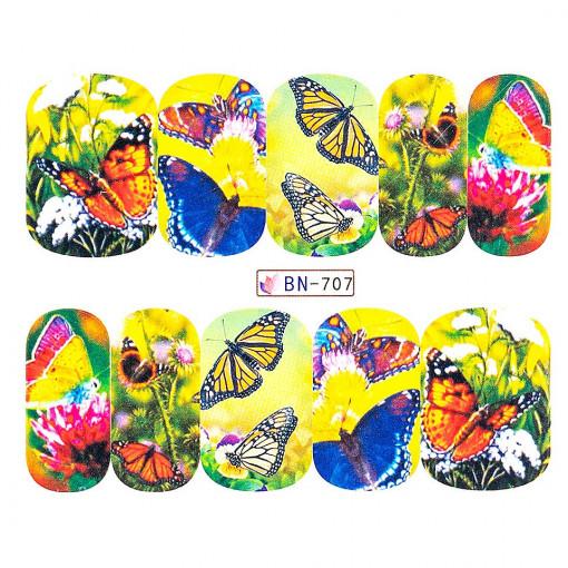 Poze Tatuaj Unghii Butterfly BN-707, LUXORISE