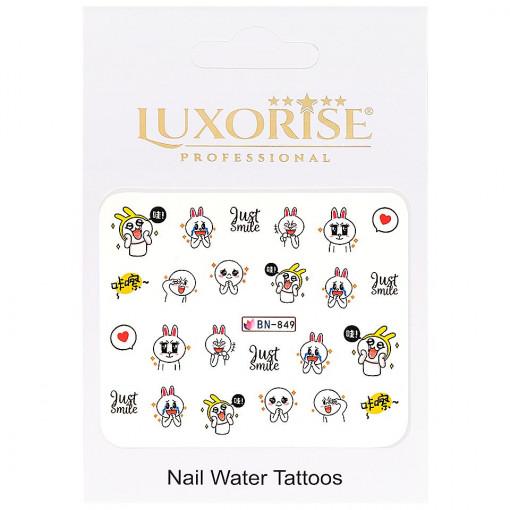 Poze Tatuaj Unghii Emotions BN-849, LUXORISE