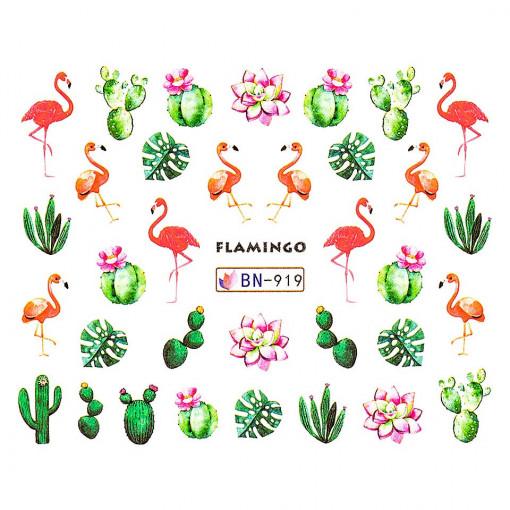 Poze Tatuaj unghii Flamingo BN-919, LUXORISE