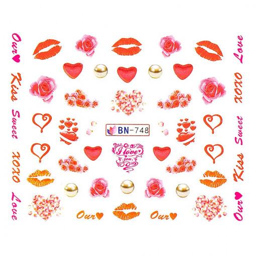 Poze Tatuaj Unghii Love BN-748, LUXORISE