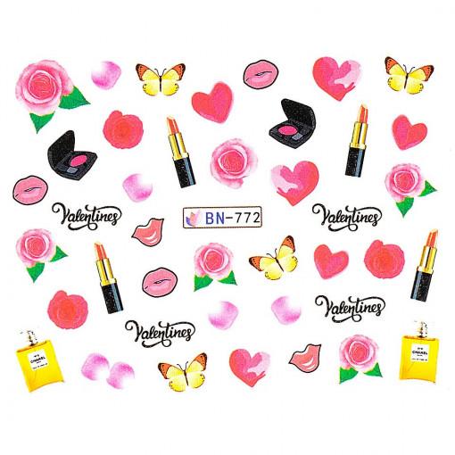 Poze Tatuaj unghii Love BN-772, LUXORISE