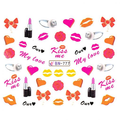 Poze Tatuaj unghii Love BN-777, LUXORISE