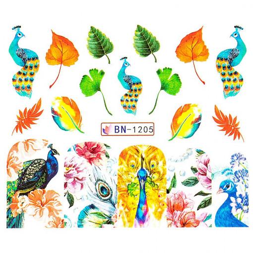 Poze Tatuaj unghii Peacock BN-1205, LUXORISE
