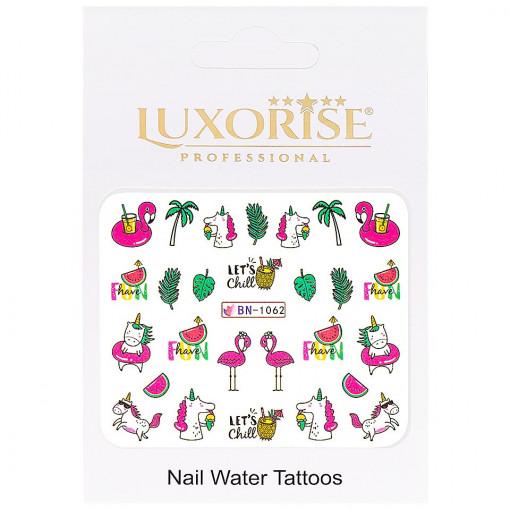 Poze Tatuaj Unghii Unicorn BN-1062, LUXORISE
