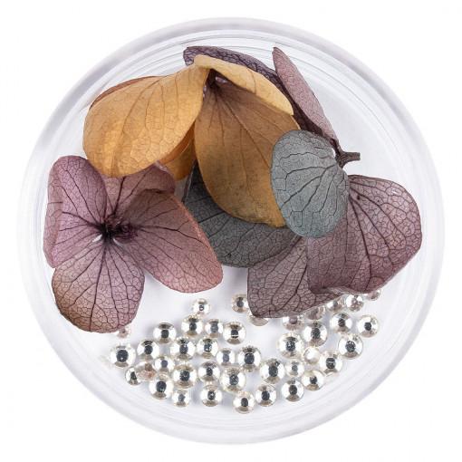Poze Flori Uscate Unghii cu cristale - Floral Fairytale #06 LUXORISE