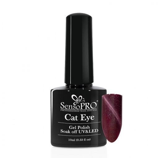 Poze Oja Semipermanenta SensoPRO Cat Eye Precious Purple #037, 10ml