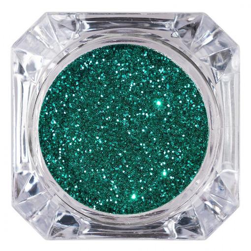 Poze Sclipici Glitter Unghii Pulbere Emerald Green #09, LUXORISE