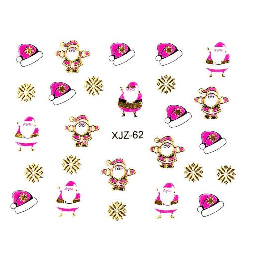Poze Sticker 3D Unghii Adventure XJZ-62 Christmas Collection, LUXORISE