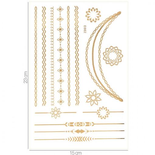 Poze Tatuaj Temporar LUXORISE Gold Edition E002