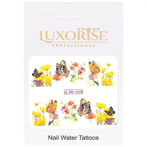 Poze Tatuaj Unghii Butterfly BN-1538, LUXORISE