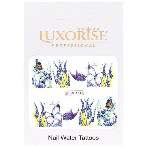 Poze Tatuaj Unghii Butterfly BN-1542, LUXORISE