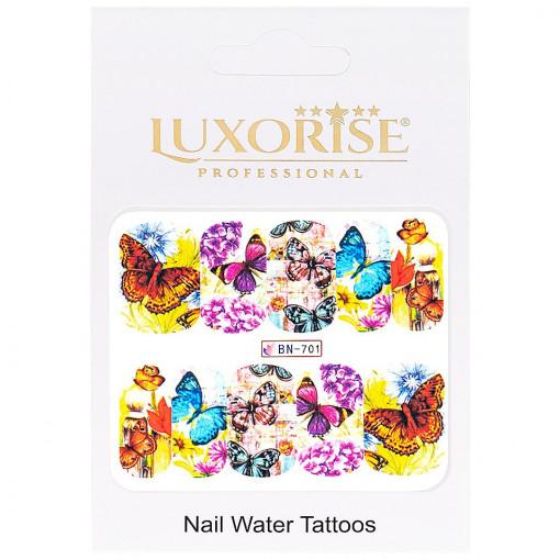 Poze Tatuaj unghii Butterfly BN-701, LUXORISE