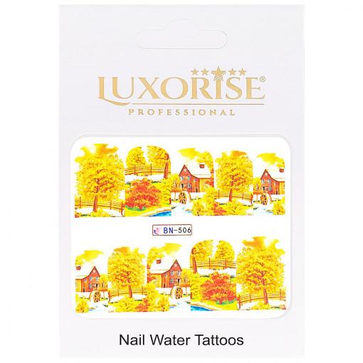 Poze Tatuaj Unghii Fall BN-506, LUXORISE