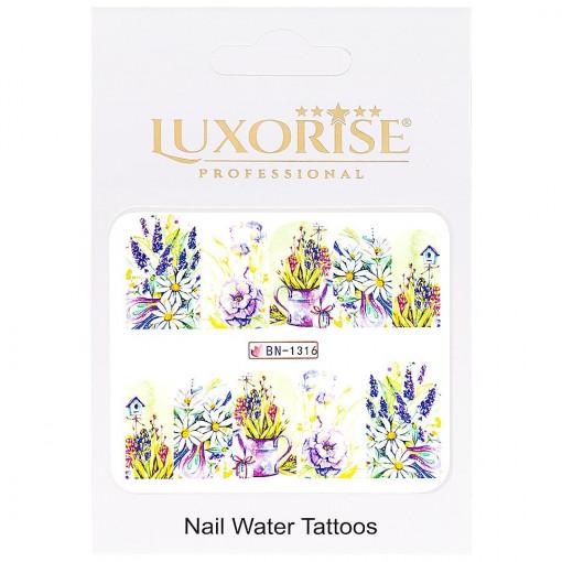 Poze Tatuaj unghii Nature BN-1316, LUXORISE