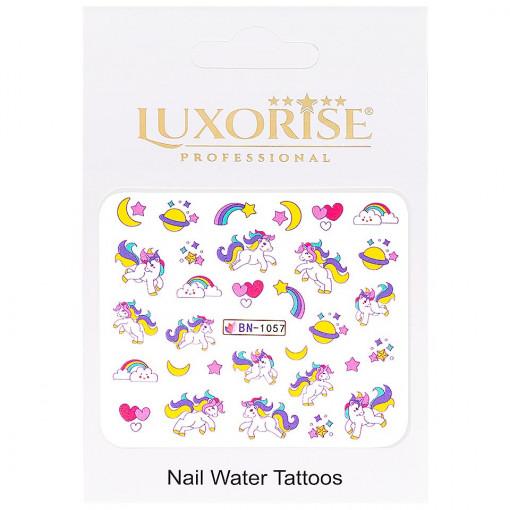 Poze Tatuaj Unghii Unicorn BN-1057, LUXORISE