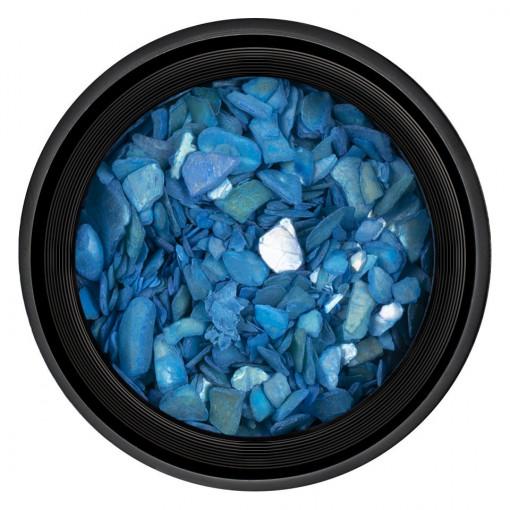 Poze Decor Unghii tip Scoica Pisata Blue Sea, LUXORISE