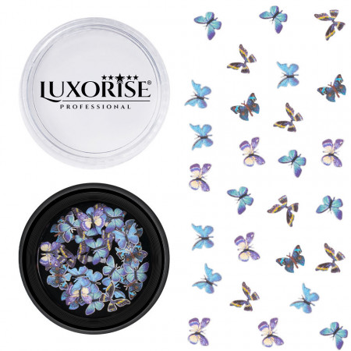 Poze Decoratiuni Unghii Nail Art Butterfly Kaleidoscope, LUXORISE