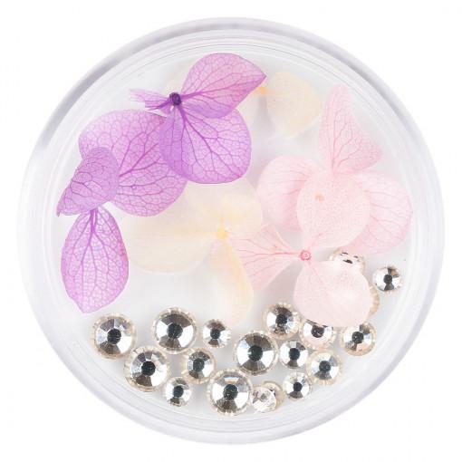 Poze Flori Uscate Unghii cu cristale - Floral Fairytale #08 LUXORISE