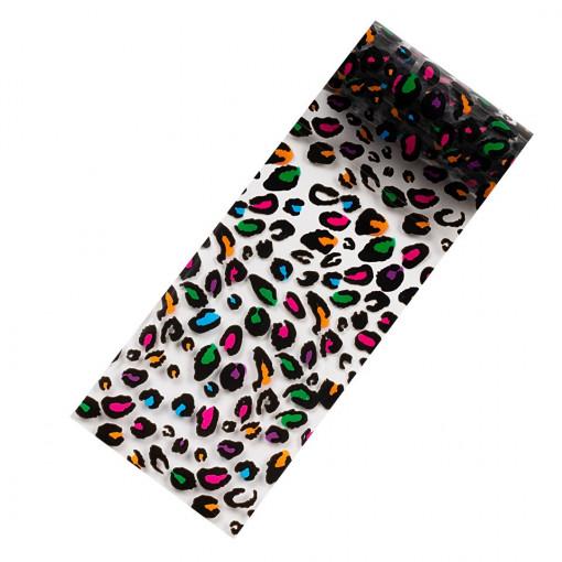 Poze Folie Transfer Unghii LUXORISE Neon Leopard #310