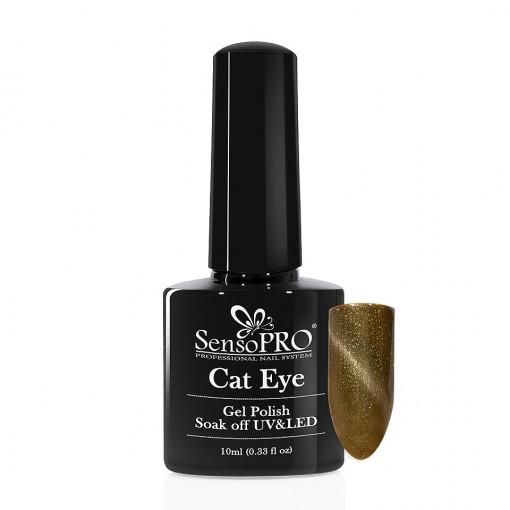Poze Oja Semipermanenta SensoPRO Cat Eye Green Time #038, 10ml