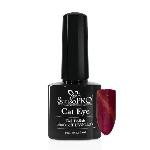 Poze Oja Semipermanenta SensoPRO Cat Eye Poppy Red #029, 10ml