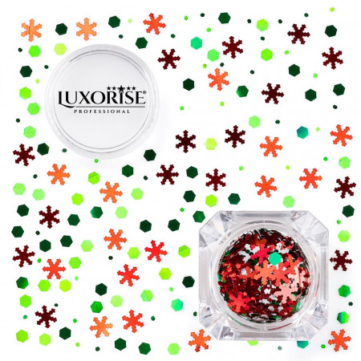 Poze Paiete Unghii LUXORISE #03 Christmas Joy